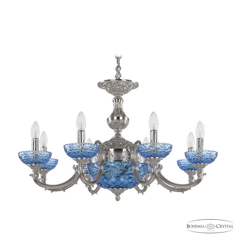 Люстра Bohemia Ivele Crystal 72209P/8/210 Ni P Aquamarine/M-1F