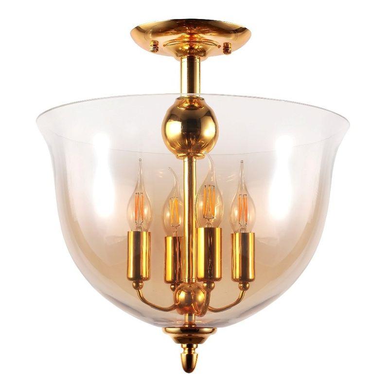 Светильник потолочный ATLAS PL4 GOLD