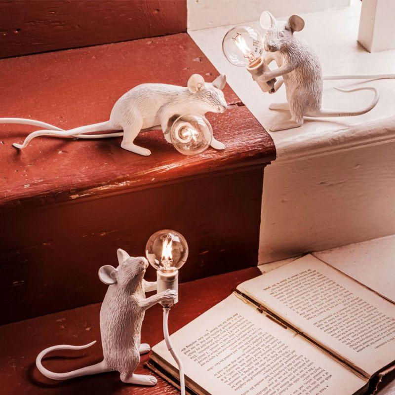 Настольная лампа Seletti Mouse Lamp 14884. Фото №5