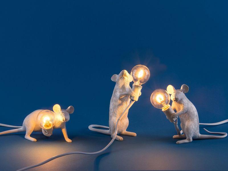 Настольная лампа Seletti Mouse Lamp 14884. Фото №6