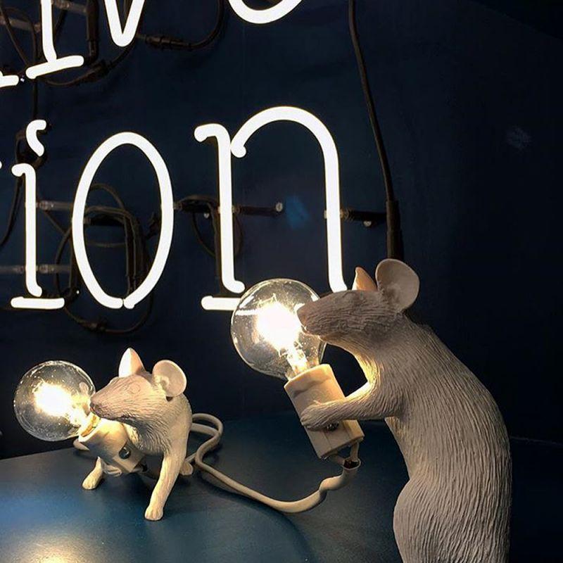 Настольная лампа Seletti Mouse Lamp 14884. Фото №7
