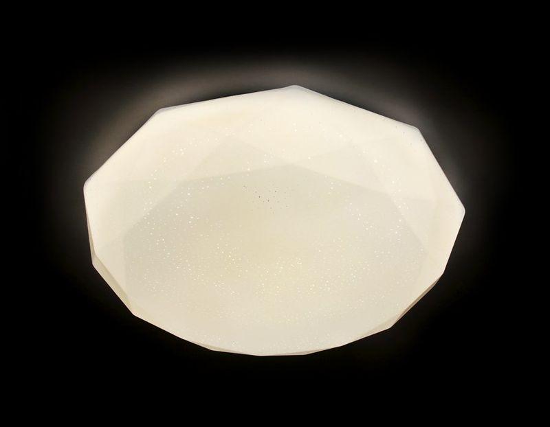 Светильник потолочный с ПДУ ORBITAL F17 WH 48W D410. Фото №1