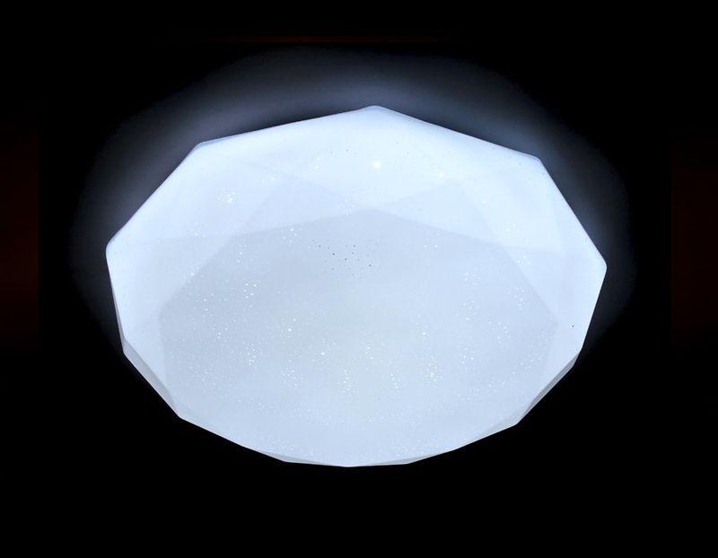 Светильник потолочный с ПДУ ORBITAL F17 WH 48W D410. Фото №2