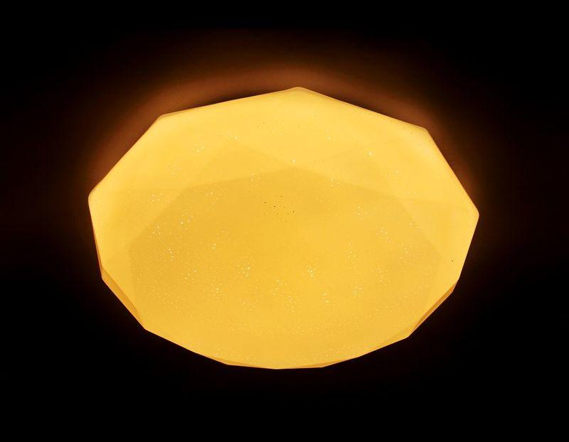 Светильник потолочный с ПДУ ORBITAL F17 WH 48W D410. Фото №3