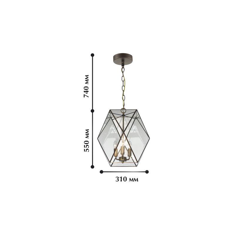 Подвесной светильник Shatir 1628-3P. Фото №1