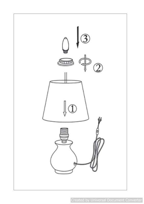 Настольная лампа MIA 14561/81/35. Фото №2