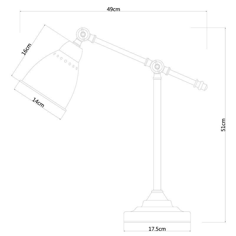 Настольная Лампа Braccio A2054LT-1SS. Фото №4