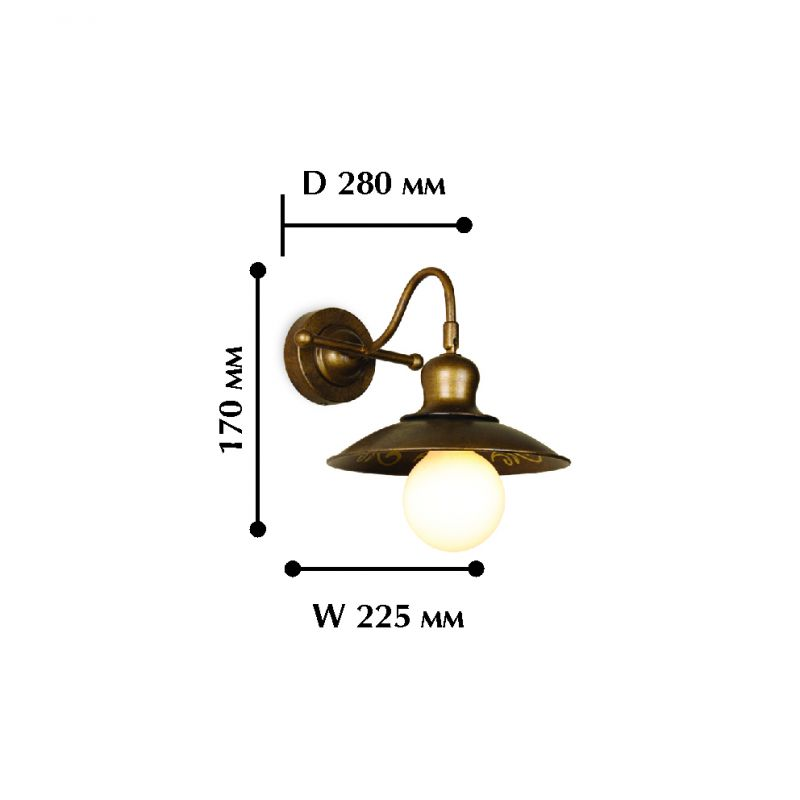 Бра Magrib 1214-1W. Фото №1
