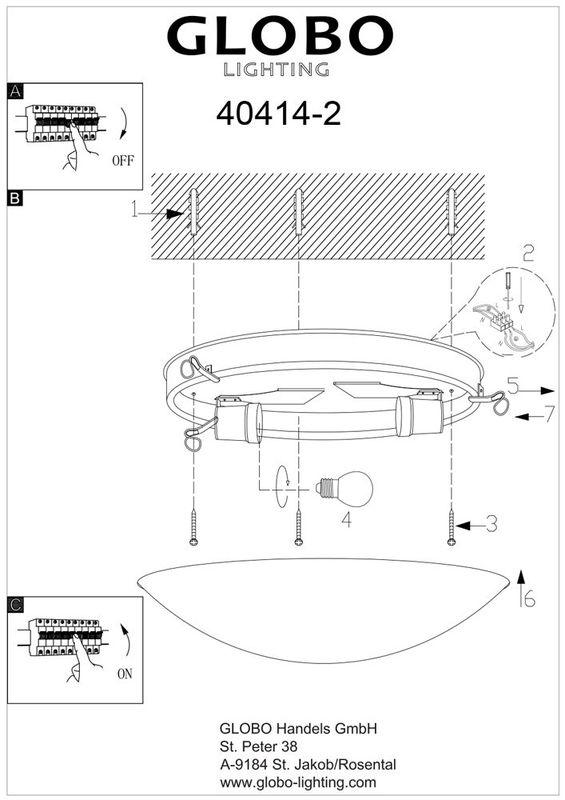 Светильник потолочный (тарелка) ALIVIA 40414-2. Фото №3