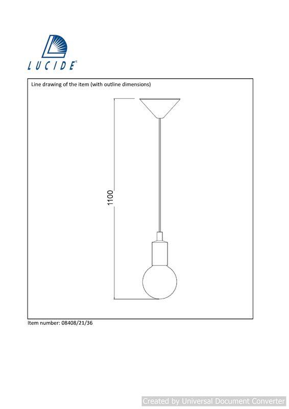Подвесной светильник FIX 08408/21/36. Фото №2