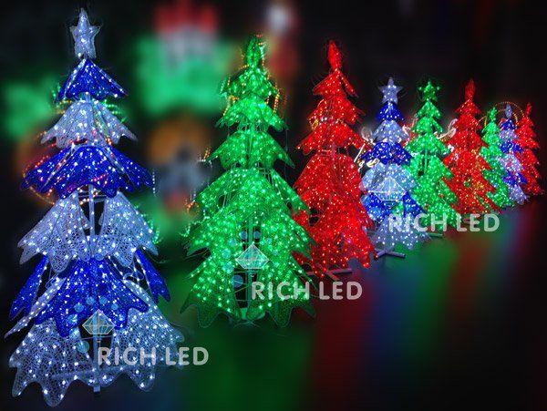 Светодиодная фигура Rich LED Ёлка RL-A3D-P1-120-G