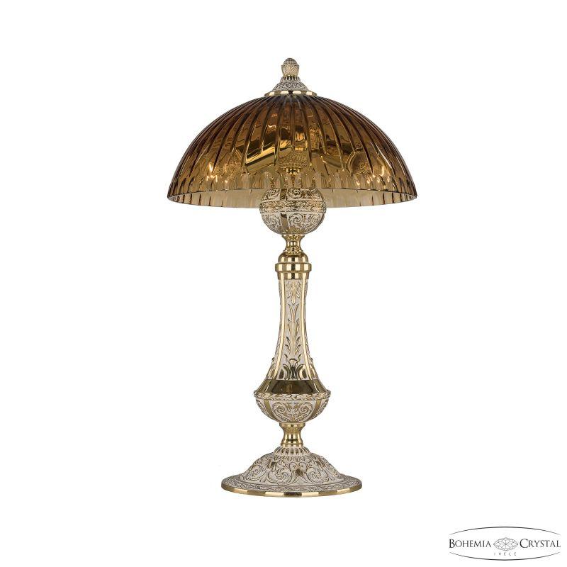 Настольная лампа Bohemia Ivele Crystal 71100L/25 GW Amber/H-1K