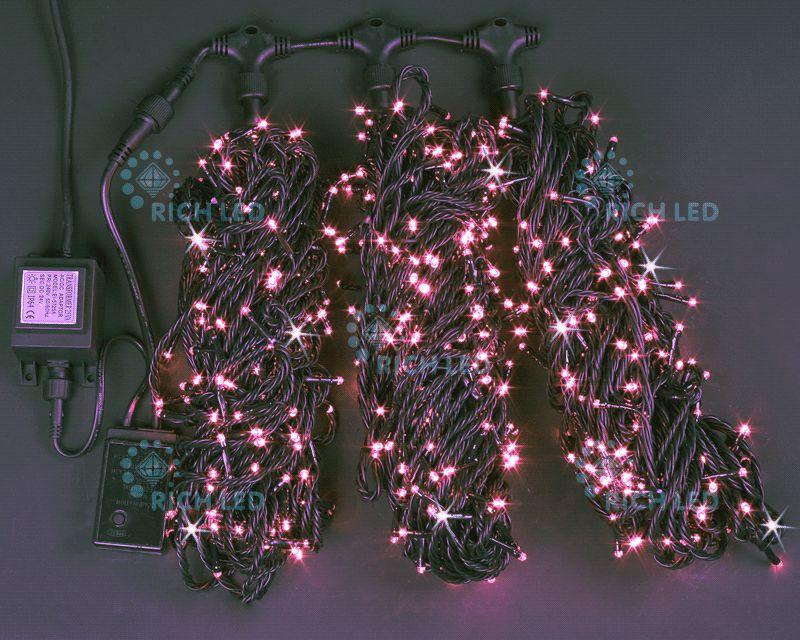 Светодиодная гирлянда 3 нити RL-S3*20F-B/P