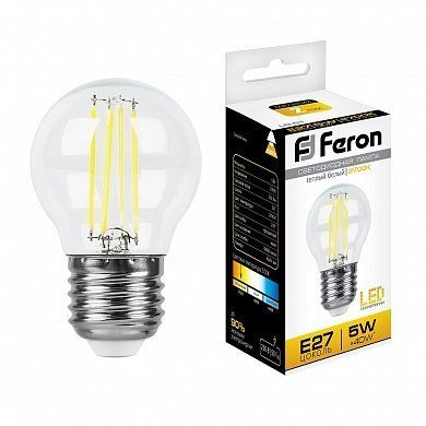 Светодиодная лампа Шарик LB-61 25581 E27 5W 2700K