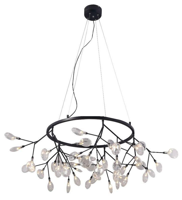 Светильник подвесной EVITA SP45 D BLACK/TRANSPARENT