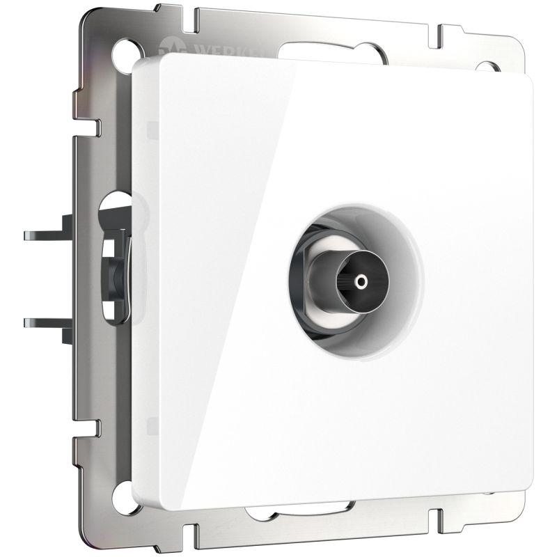 ТВ-розетка оконечная Werkel (белая) W1183001