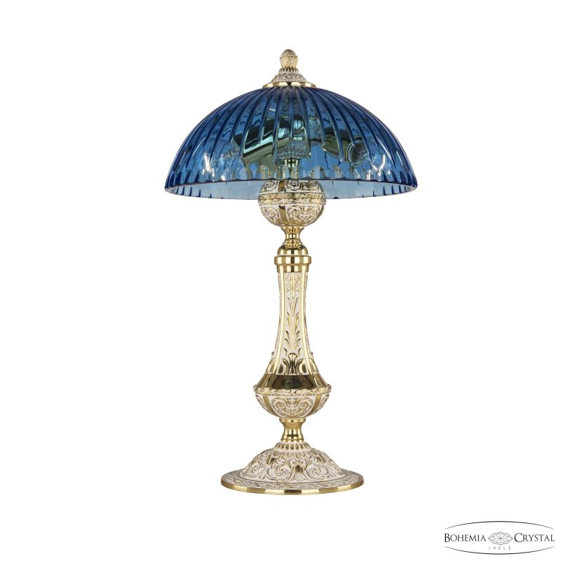 Настольная лампа Bohemia Ivele Crystal 71100L/25 GW Aquamarine/H-1K