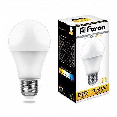 Лампа светодиодная Feron LB-93 E27 12W 2700K 25489 Шар