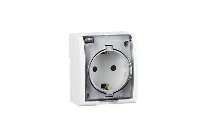 Электрическая розетка с крышкой Simon BD-1229816