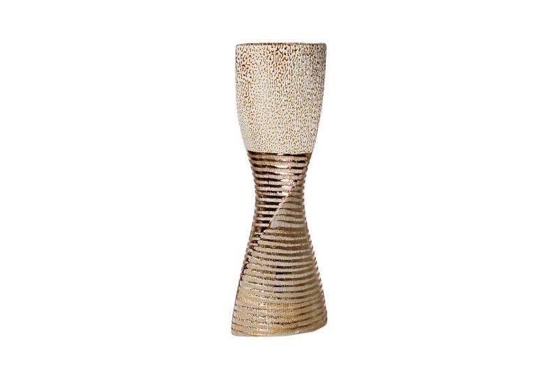 18H7582M-8 Ваза керамика золотая 16х10,3х42,5