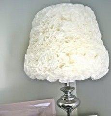 Напольный торшер с абажуром в стиле флористика