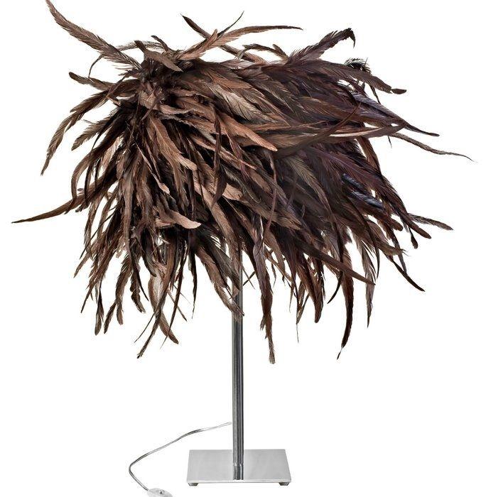 Декоративные торшеры с абажуром из перьев