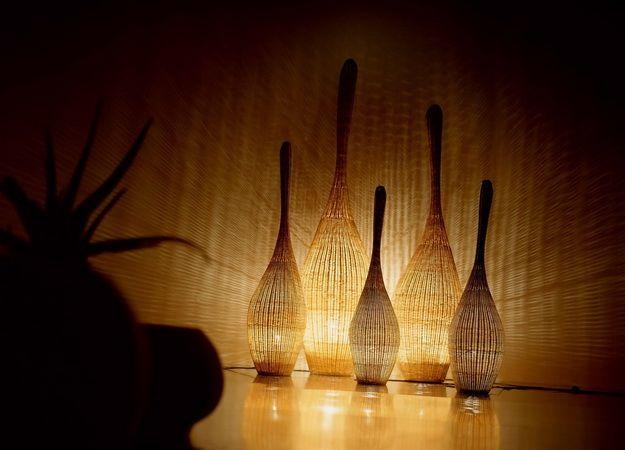 Использование лампы накаливания в торшерах из ротанга не вызовет порчу торшера