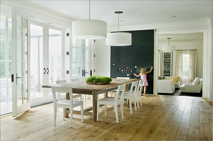 Подсветка обеденного стола на кухне