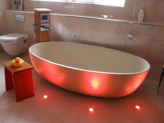 Подсветка ванной комнаты для создания романтической атмосферы от интернет-магазина BasicDecor