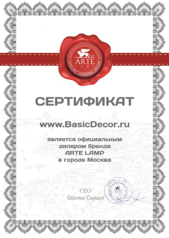 Официальный представитель Arte Lamp