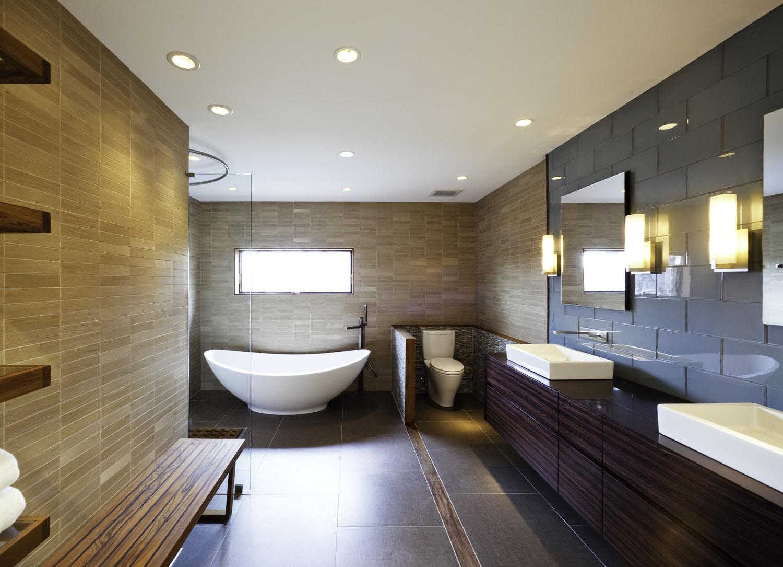 Светильники для ванной комнаты в интерьере